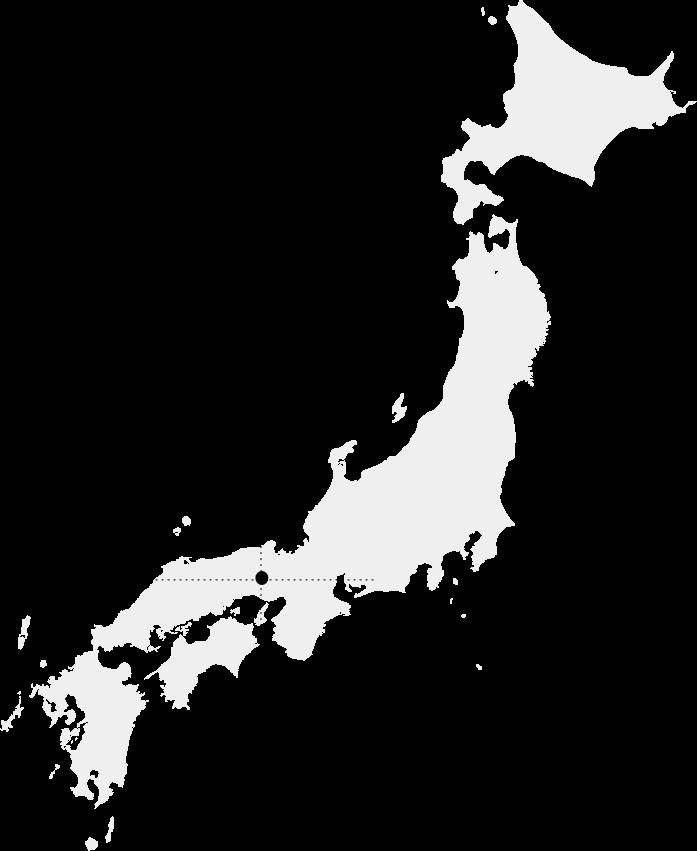 日本地図の西脇市と多可町